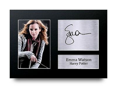 Emma Watson Gift Signed A4 Printed Autograph Print Harry Potter Gifts Photo