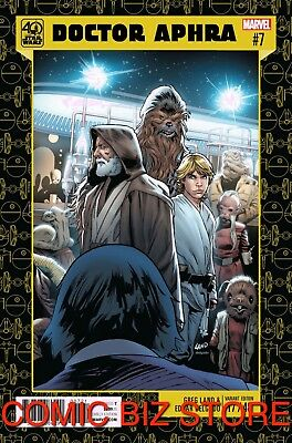 Star Wars Doctor Aphra #7 (2017) 1St Print 40Th Anniversary Variant Cover Marvel