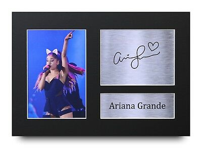 Ariana Grande Gift Signed A4 Printed Autograph Print Music Gifts Photo Picture