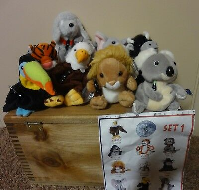 5 Sets of International Coca-Cola Beanie Baby Collection w/Passport Book & Maps