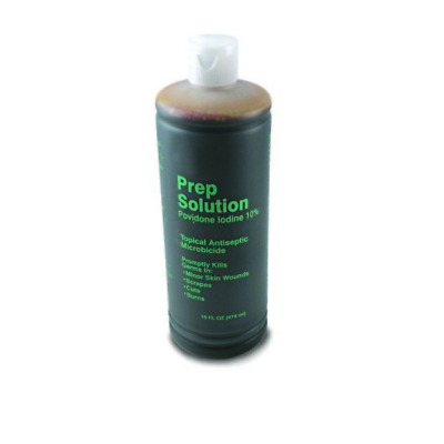 3 PACK! Prep Solution PVP Povidone-Iodine 16oz Surgical Scrub Pint Bottle *DEAL*