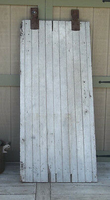 "BARN DOOR Farmhouse 77"" AUTHENTIC Vintage OLD Door FARM DOOR Salvaged & Rollers"