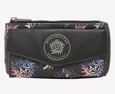 Supernatural Galaxy Anti-Possession Symbol Trifold Flap Wallet New With Tags!