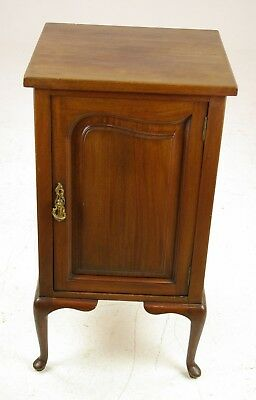 Antique Walnut Nightstand, Antique Bedside, Lamp Table, Scotland 1910, B1303