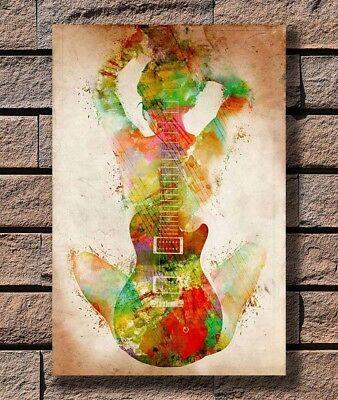 T210 Art Poster Guitar Chords Chart by Key Music Printbig Hot Silk 24x36 27x40IN