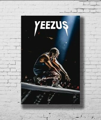 P-696 Art Kanye West Rap Music Star Yeezus LW-Canvas Poster - 21 24x36in