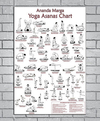 E215 Art Yoga Exercise Bodybuilding Chart Fan 18 24x36inch Poster New Gift