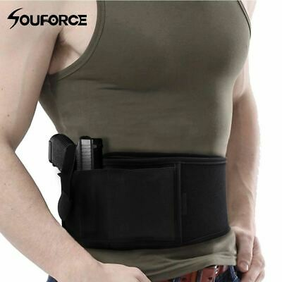Right/Left Hand Tactical Universal Abdominal Band Holster for Glock 17 19 22 Ser