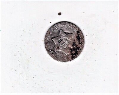 Scarce Date 1852 3 Cent Silver- Free Shipping