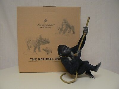 Country Artists THE NATURAL WORLD CAREFREE GORILLA ON BRANCH Hand Crafted
