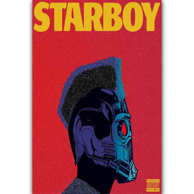 "Art The Weeknd Starboy Custom Rap Music Poster -24x36"" 27"" P-512"