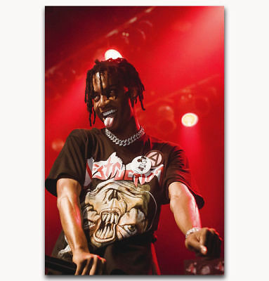 "Art Hot Playboi Carti Custom Rapper Music Star Poster -24x36"" 27"" P-478"
