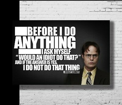 P-219 Art The Office TV Series Motivational Movie Quote Canvas Poster 21 24x36in