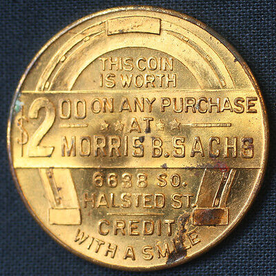 1933 Morris B. Sachs Chicago IL Credit with a Smile Franklin Roosevelt $2 Token