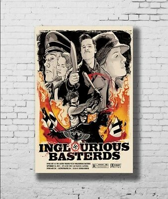 P-284 Art Inglourious Basterds Quentin Tarantino Movie Canvas Poster 21 24x36in