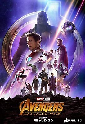 Avengers Infinity War Movie 2018 Marvel Comics Print 40 24x36in Poster E008