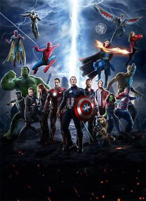 P06 Art The Avengers 3 MARVEL Movie Avengers Infinity War - Wall 24x36in Poster