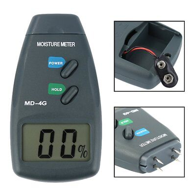 Digital 4 Pin LCD Wood Moisture Humidity Meter Damp Detector Tester 5% - 40% PL