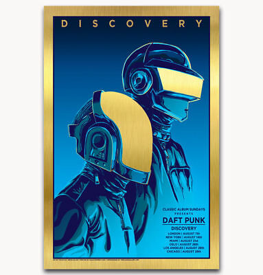"Art Daft Punk The Weeknd Discovery Starboy Music Custom Poster -24x36"" 27"" P-371"