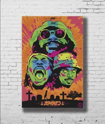 P-433 Art Flatbush Zombies American Hip Hop Group LW-Canvas Poster - 21 24x36in
