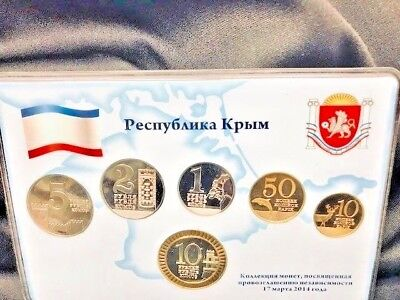 Rep of Crimea 2014 Declaration of independence Set of 6 coins