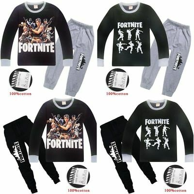Boys Fortnight Pyjamas Kids Tracksuit Outfit T-Shirt Bottoms Ages 6-13 Christmas