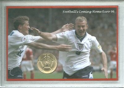 England Euro 96 Football Memorabilia Fan Commemorative £2 Coin UNC Gift Set 1996