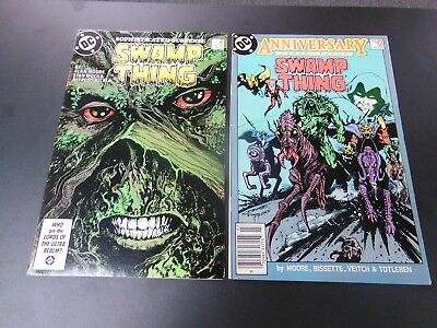 Swamp Thing #49 & 50 VF 1st JLA Dark KEY DC Comic