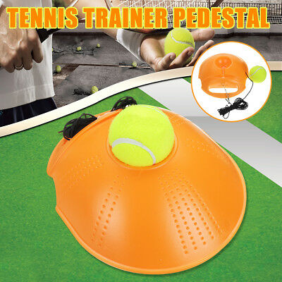 Tennis Training Tool Practice Exercise Self Study Rebound Ball Trainer Baseboard