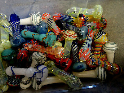 """( NEW STYLES) Wholesale  Lot of 50   4-4.5"""" Glass Pipes ! Fast Shipping  MIXED"""
