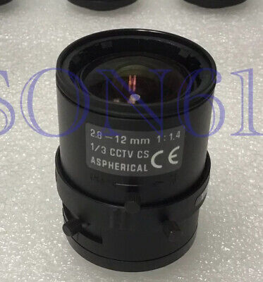 "Lot 4 TAMRON Lens 2.8~12mm Varifocal, 1/3"" CS Mount 1:1.4 ASPHERICAL CCTV Camera"
