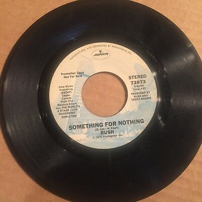 Rush Something For Nothing Fly By Night In The Mood SUPER RARE PROMO