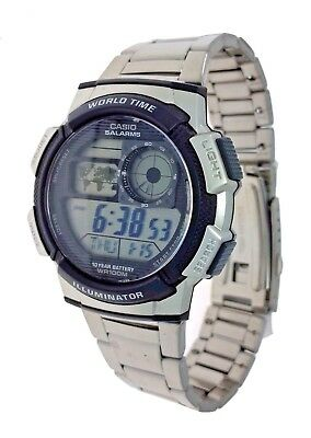 Casio AE1000WD-1A Digital Watch World Time 100M Water Resistant 10 Year Battery