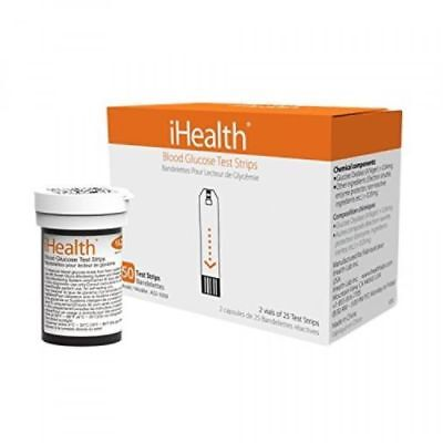 iHealth Blood Glucose Test Strips (50 Count), New