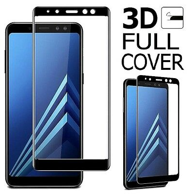 FULL COVER Tempered Glass Screen Protector for Samsung Galaxy A6 A7 A8 A9 J6 J4+