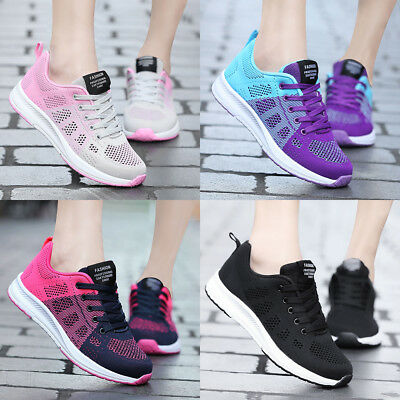 Womens Outdoors Sports Breathable Casual Sneakers Running Athletic Tennis Shoes