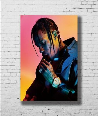 P-573 Art Travis Scott Hip Hop Hot Rap Music Singer Star LW-Canvas Poster 24x36