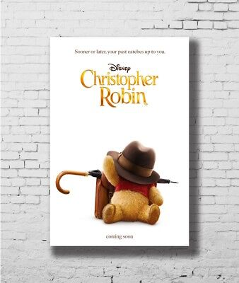 P-31 Christopher Robin Movie Characters Winnie The Pooh Poster 14x21 24x36 32x48