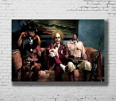 P-25 Art Beetlejuice Tim Burton Movie Silk LW-Canvas Poster - 21 24x36in