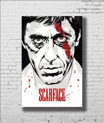 P-374 Art Classic Fighting Movie Pacino Scarface Actor LW-Canvas Poster 24x36in