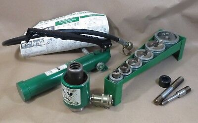 "GREENLEE 7506 ½ - 2"" Slug Splitter Hydraulic Knockout Punch Set 767-Pump 746-Ram"