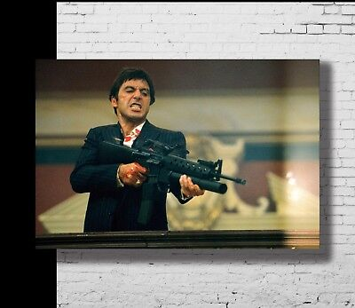 P-190 Art Scarface Classic Movie Al Pacino LW-Canvas Poster - 21 24x36in