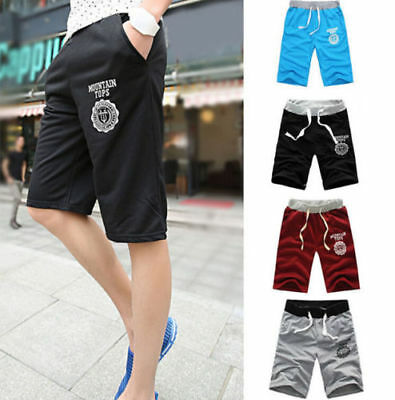 cde001d8 MENS COTTON HALF Pant Shorts Pants Gym Trousers Sports Jogging Casual  Trousers