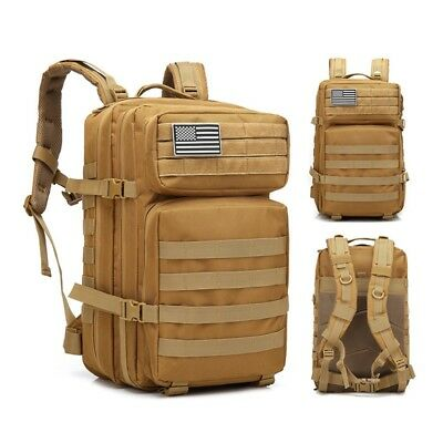 Military Tactical Backpack Large Army Assault Pack Molle Hiking Camping Bag