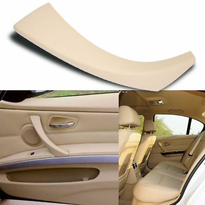 Right Inner Door Panel Handle Outer Trim Cover Fit BMW E90 3-Series Sedan Beige