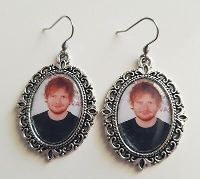 ***ed Sheeran Large Pendant Earrings - Brand New***