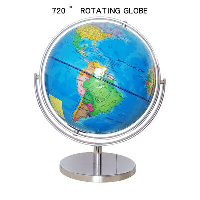 760°Rotating District Earth Globe World Map Geography Toy Office School Decor HC