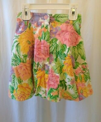 Vintage Youth Girls  Baby Boxers  Floral Summer Skirt Size 5 EXCELLENT CONDITION