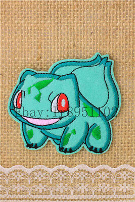 Bulbasaur Pocket Monster pants hat Iron on Embroidered Badge Applique Patches U1