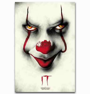 IT Movie PennyWise Stephen King Hot New Horror 24x36Inch Custom Poster P-284